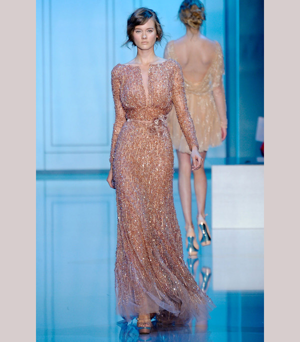 Short wedding reception dress by Elie Saab Credit Gorgeous Elie Saab gowns