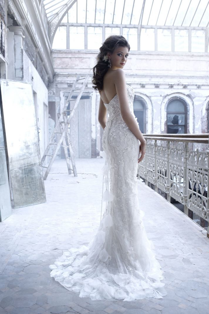 Sleek embellished wedding dress