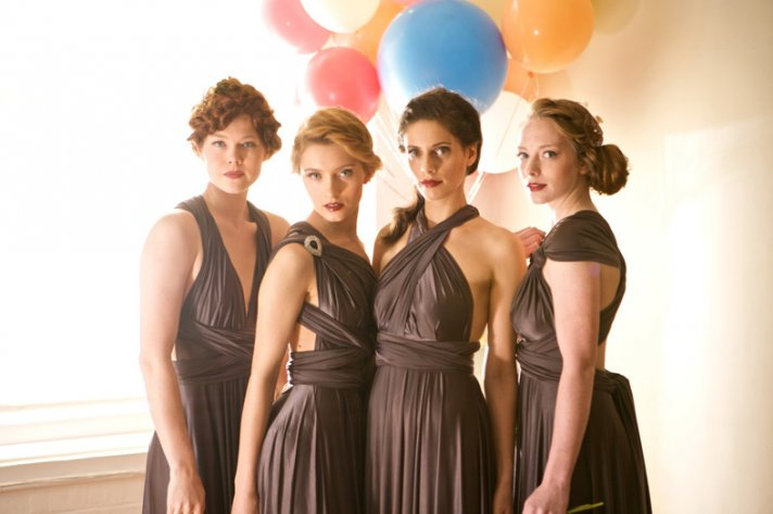 Rich smoky brown convertible bridesmaid dresses