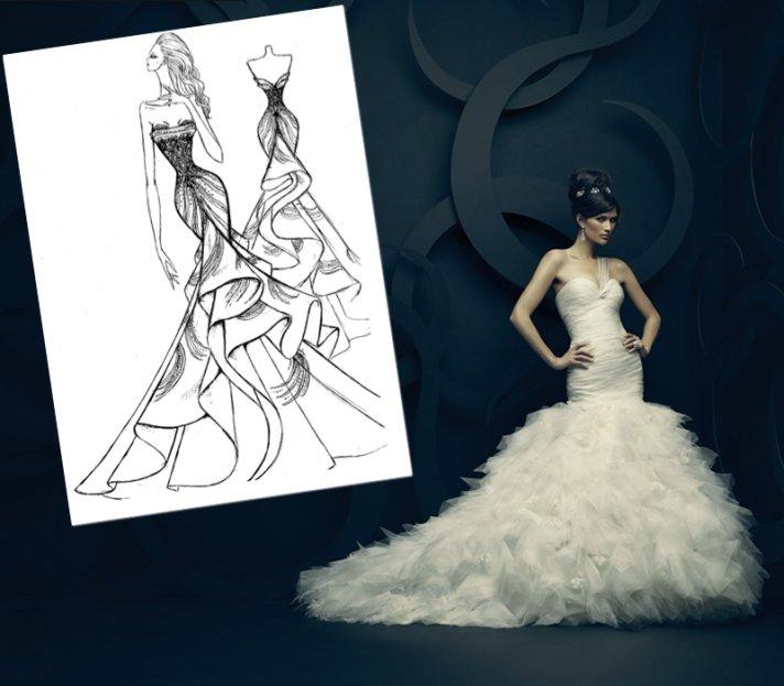 Ines di Santo's interpretation of Kim Kardashian's wedding dress