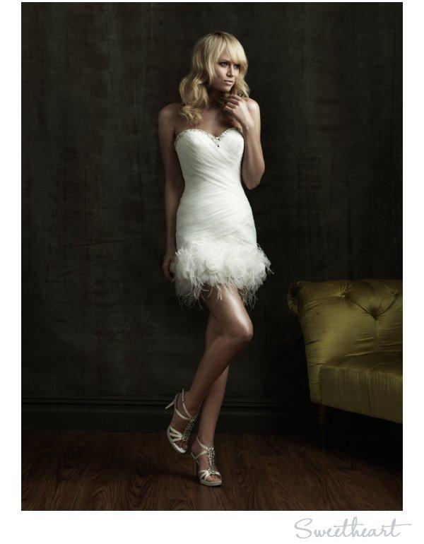 Short sweetheart neckline wedding reception dress