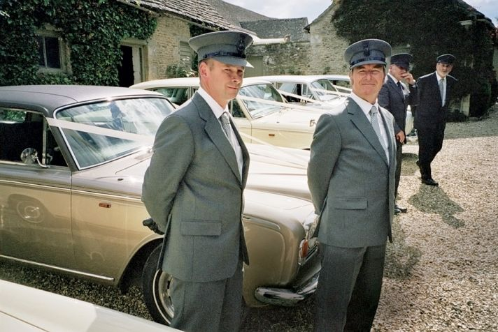 Fleet of antique Rolls Royce wedding cars for Kate Moss' wedding