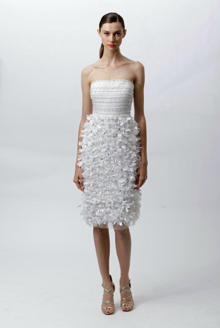 Embellished wedding reception dress by Badgley Mischka