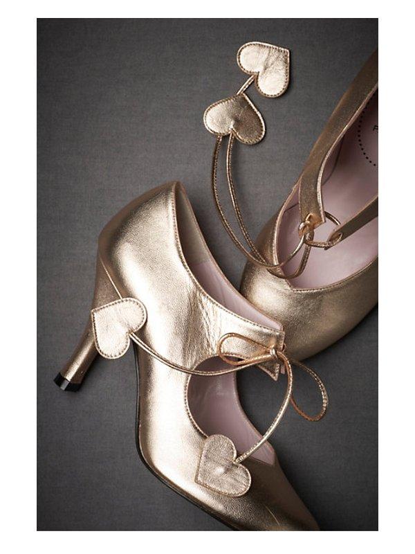 metallic wedding shoes from bhldn