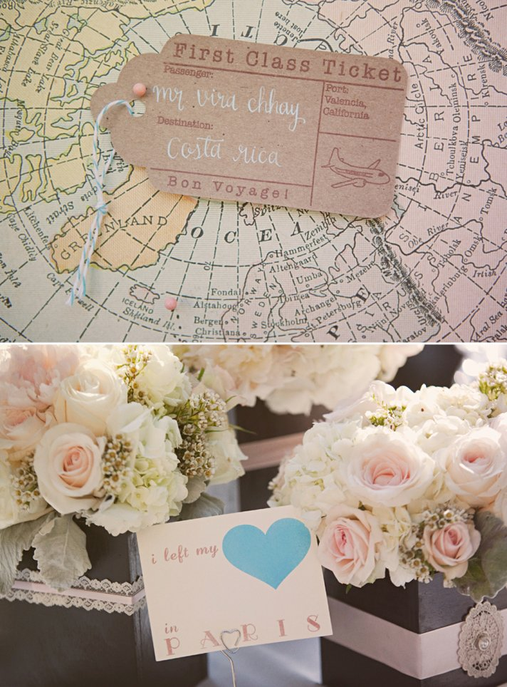 Swoon worthy california wedding with a vintage travel Elegance decor