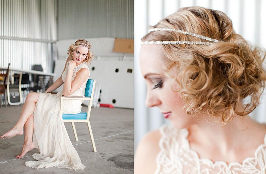 Lameekas Blog Lilliana Vintage Champagne Ribbon Bridal Headband