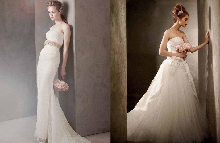Romantic-wbvw-wedding-dresses-lace-strapless