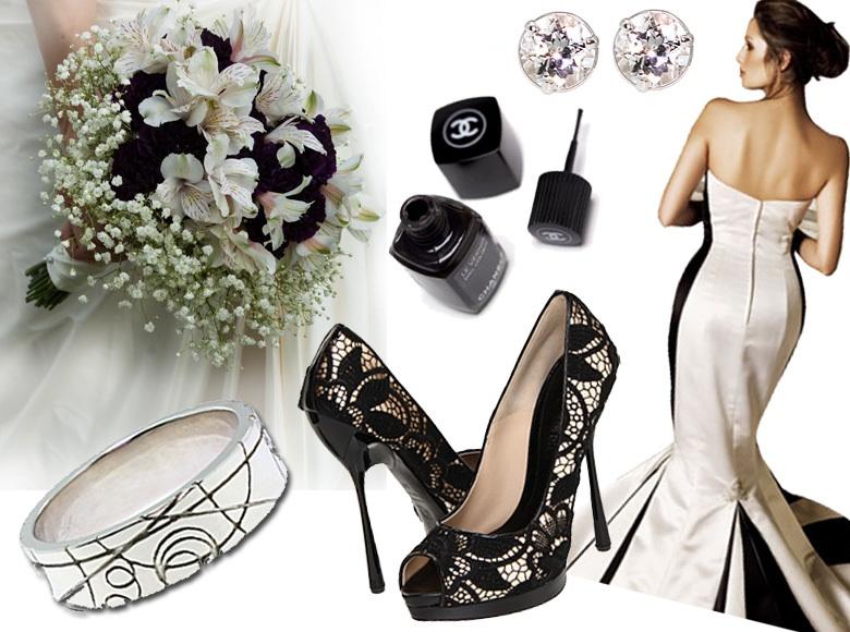 weddingideasinspirationblackwhiteweddingcolorskim