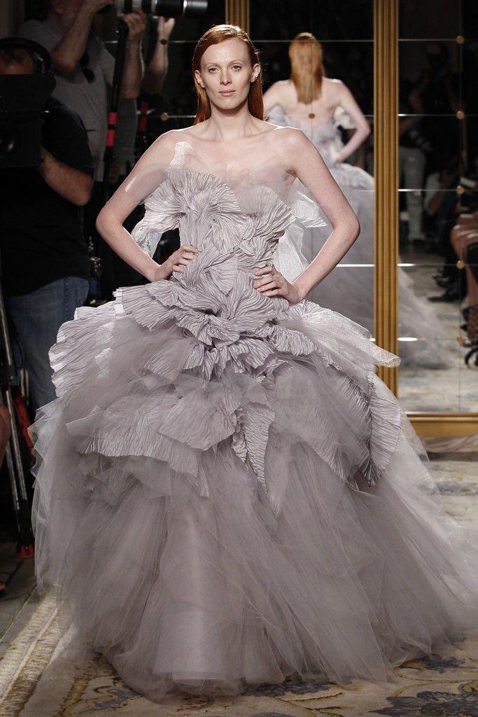 Dramatic tulle ballgown wedding dress