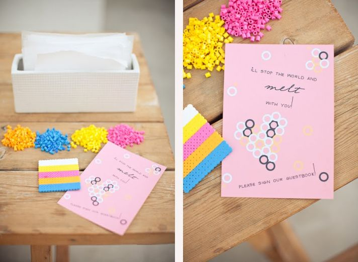 DIY wedding reception guest book