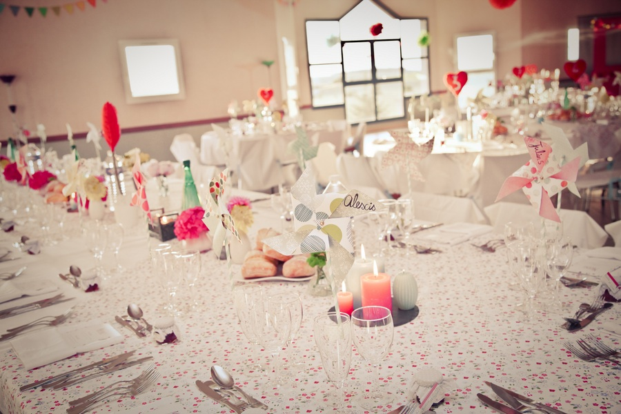 Retro lovethemed wedding reception decor Uploaded October 13 2011