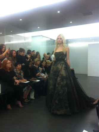 Black and nude Vera Wang wedding dress Fall 2012