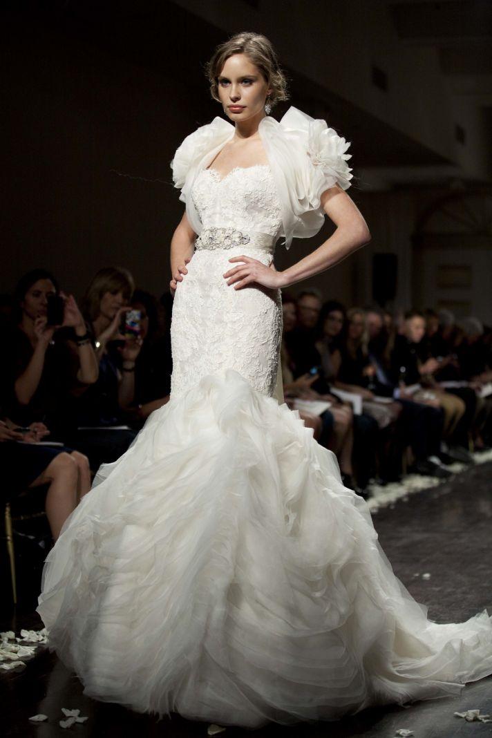 Dramatic mermaid wedding dress