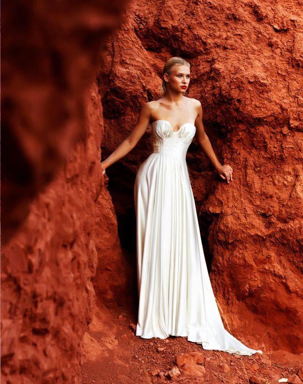 Modified a-line sweetheart wedding dress