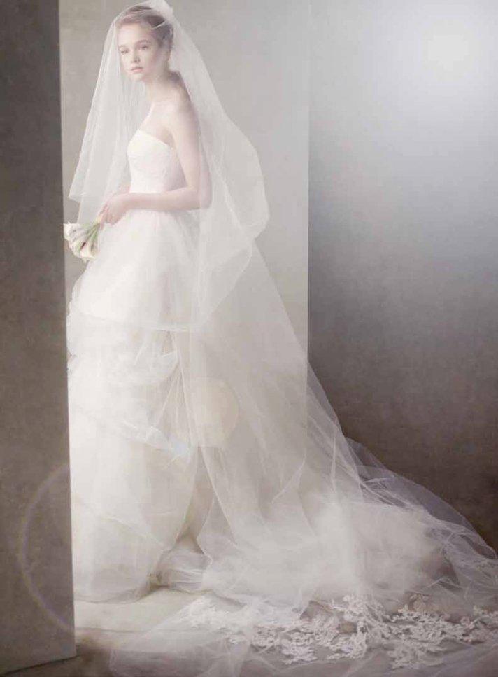 Romantic bridal veil by Vera Wang