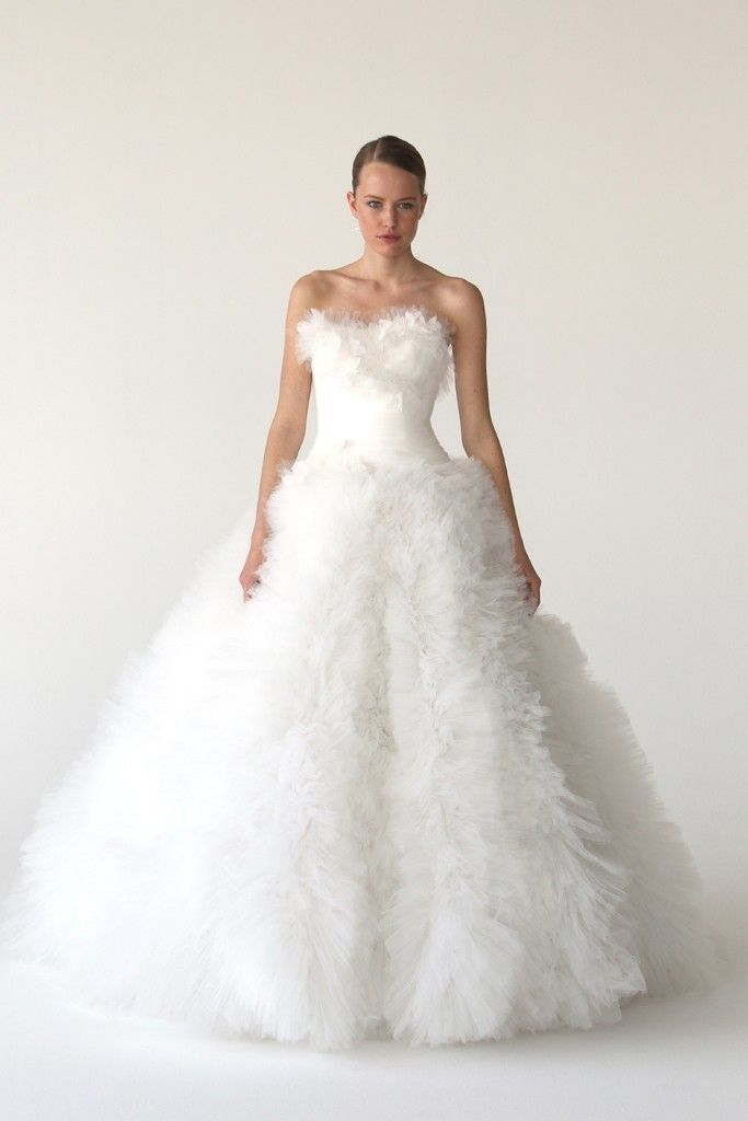 Dreamy tulle ball gown wedding dress