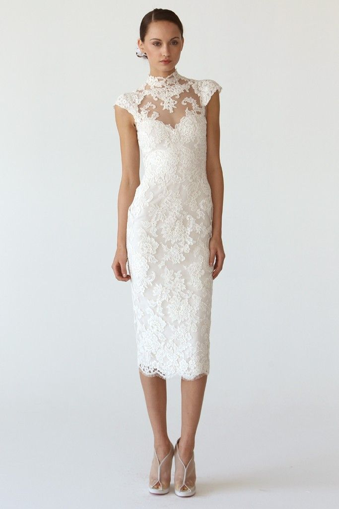 Marchesa wedding dresses fall 2012 onewed for Lace white wedding dress