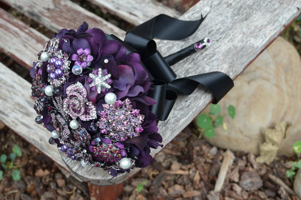 Dark Purple And Silver Wedding Flowers - Flowers Healthy