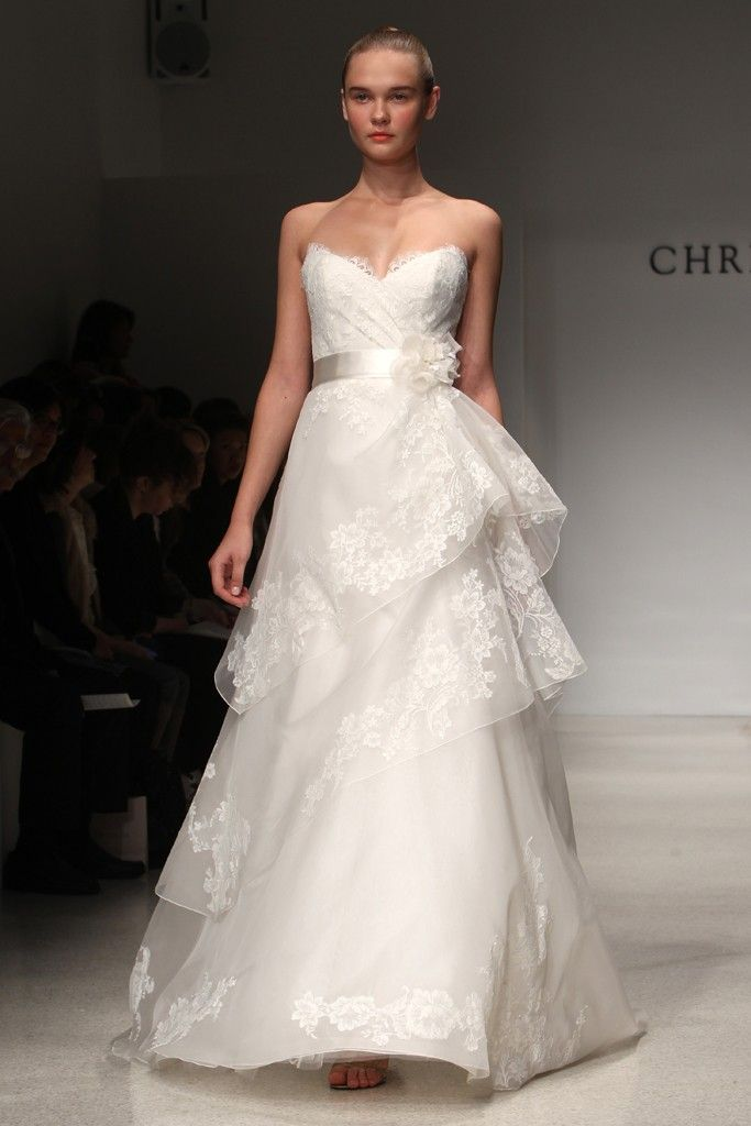2012 wedding dress trend, peplums- Christos, Kenneth Pool
