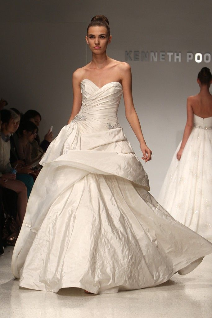 2012 wedding dress trend, peplums- Christos, Kenneth Pool