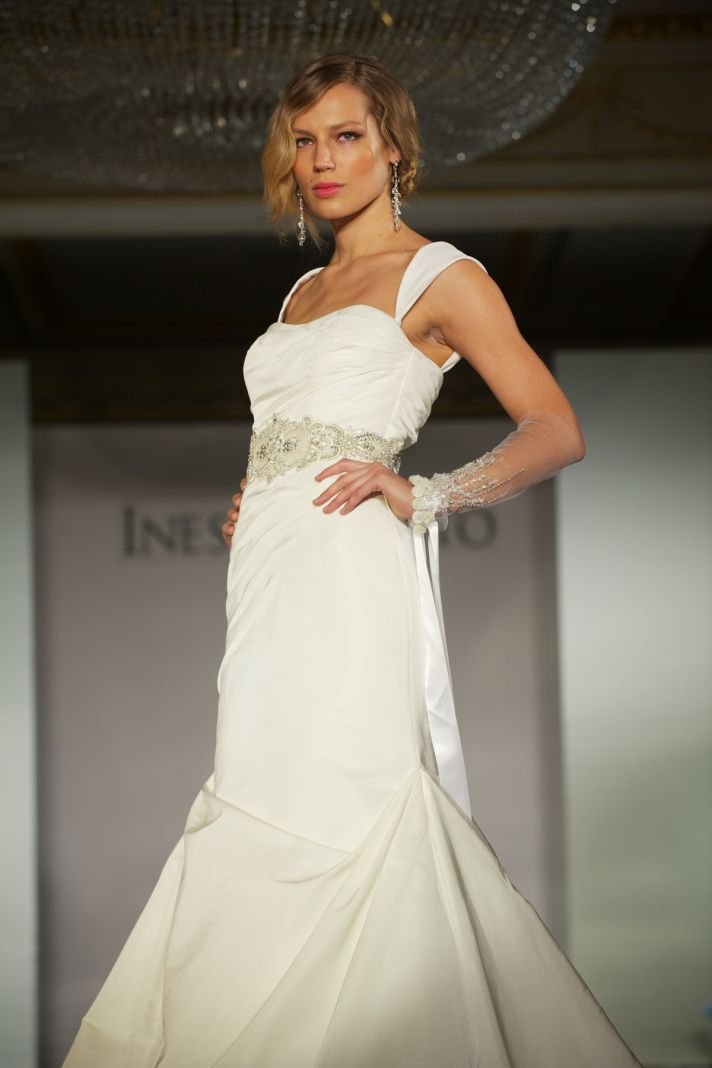 2012 wedding dress trends- gowns with slits and sleeves, Ines di Santo