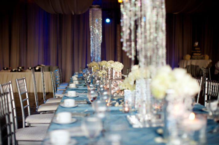 elegant spring wedding with blue silver ivory wedding color palette