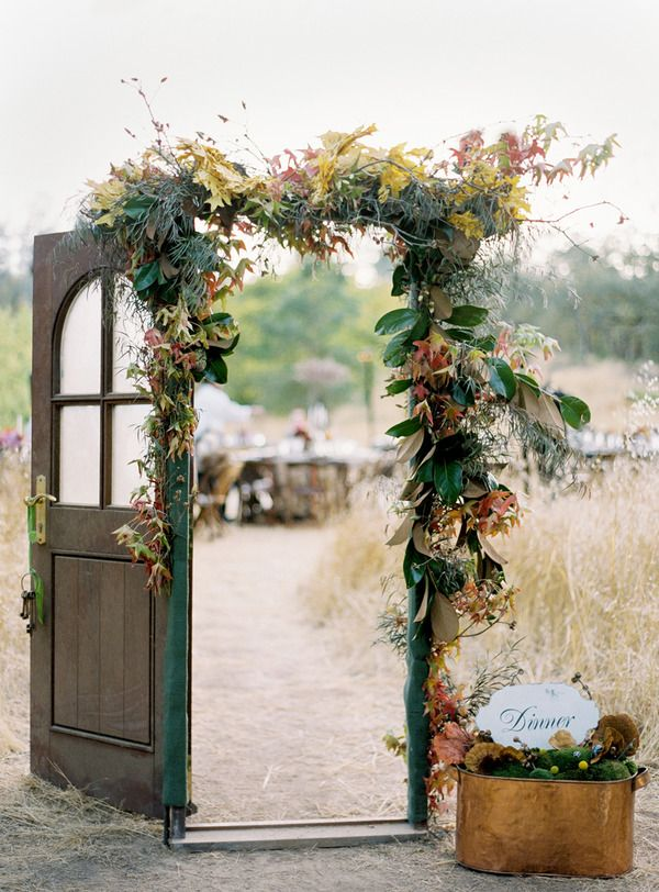 Vintage wedding decor ideas- ceremony and reception details, ceremony arbor