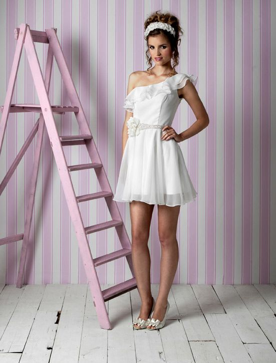 Charlotte Balbier wedding dresses, 2012 bridal gown- little white dress