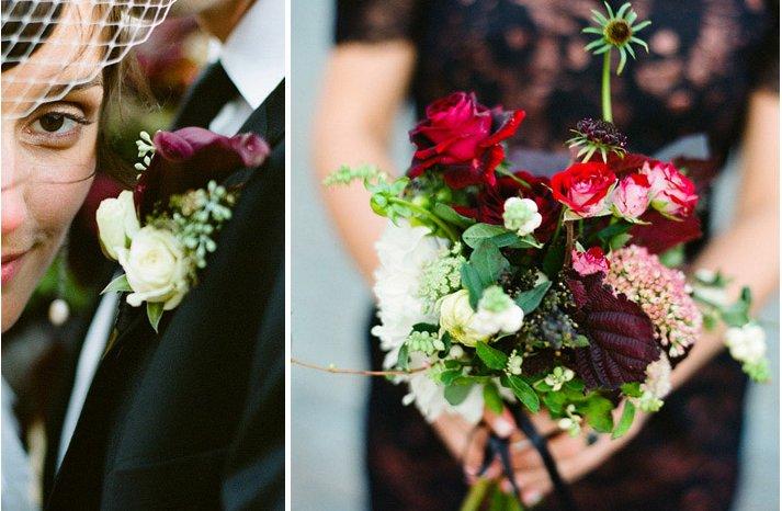 Dark-romantic-wedding-flowers-crimson-red