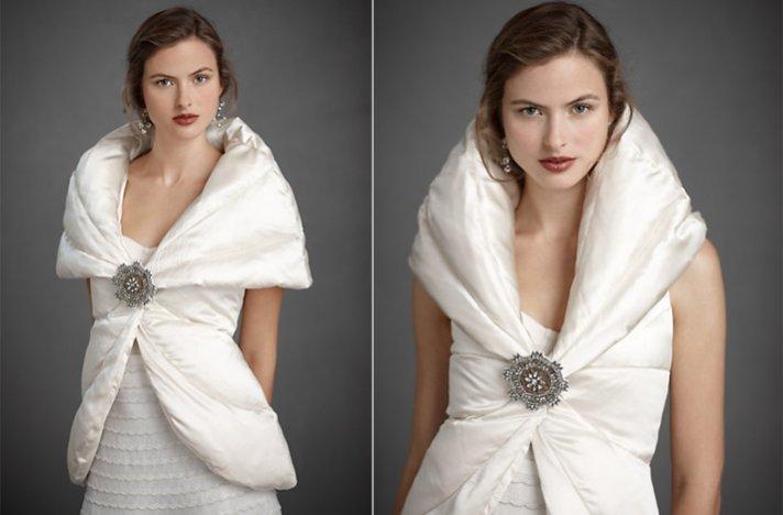 Bridal boleros by BHLDN- snowdrift jacket for winter wedding brides