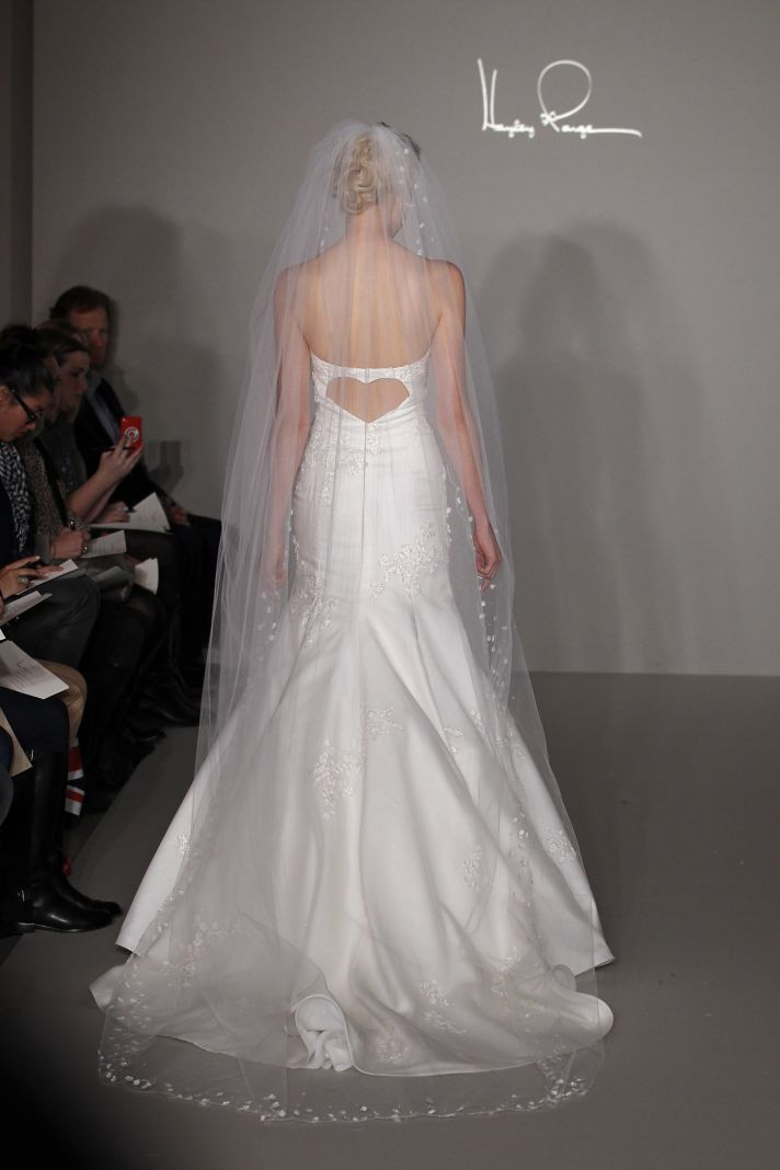 Hayley Paige 2012 wedding dress lace mermaid with open heartshaped back