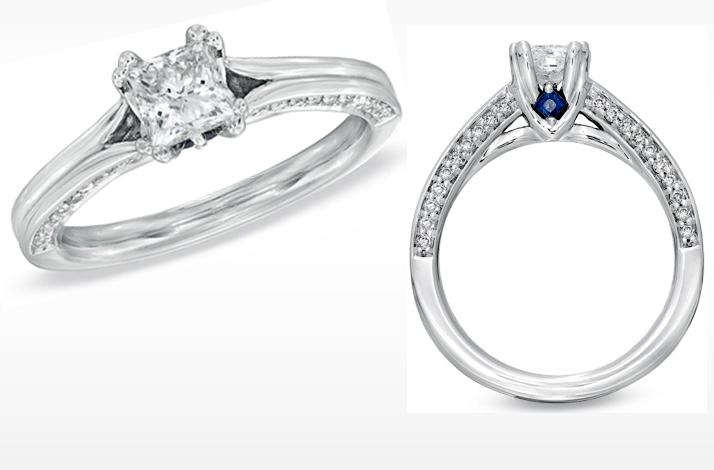 Vera Wang LOVE Engagement Ring Simple princess cut Credit Vera Wang LOVE