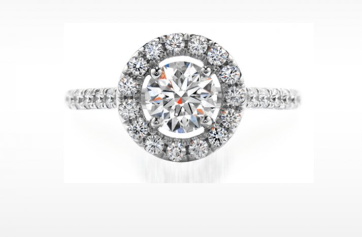 hof vintage inspired engagement ring