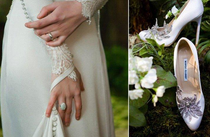 Breaking-dawn-wedding-inspiration-vintage-inspired-bridal-gown-platform-wedding-shoes