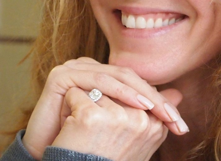 rosie odonnell engaged diamond engagement ring