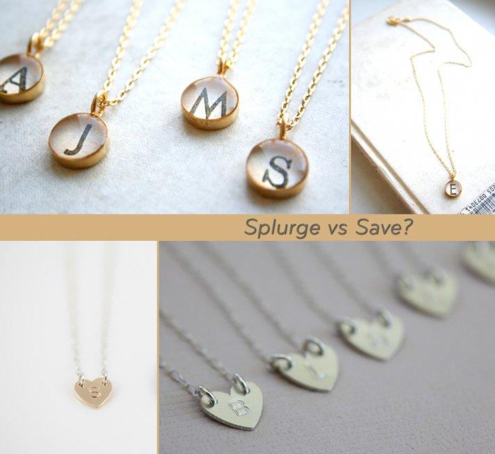 splurge vs save bridesmaids gifts