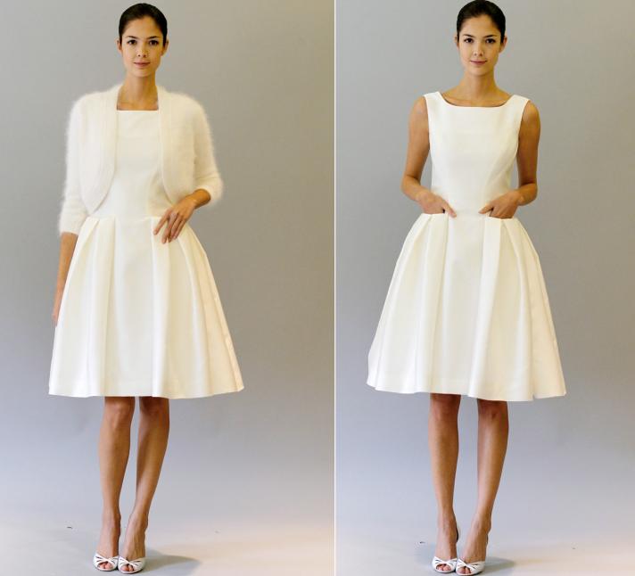 little white dresses carolina herrera 2012 bridal gowns