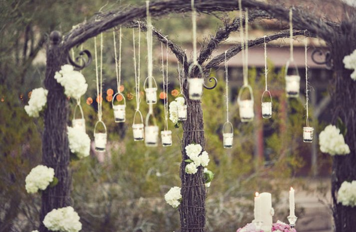 Vintage Backyard Wedding Ideas : vintage wedding ideas mason jars ceremony reception decor 2
