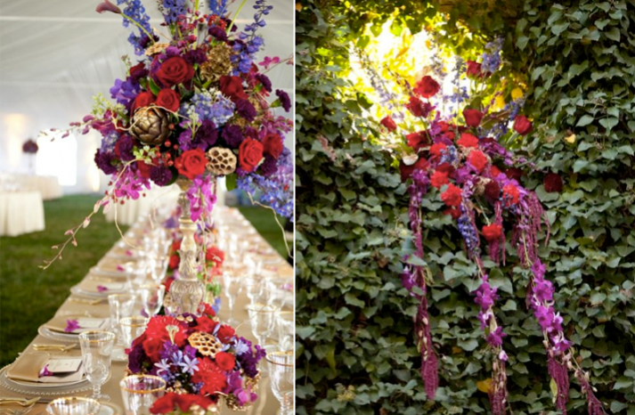 Dramatic Topiary Centerpieces
