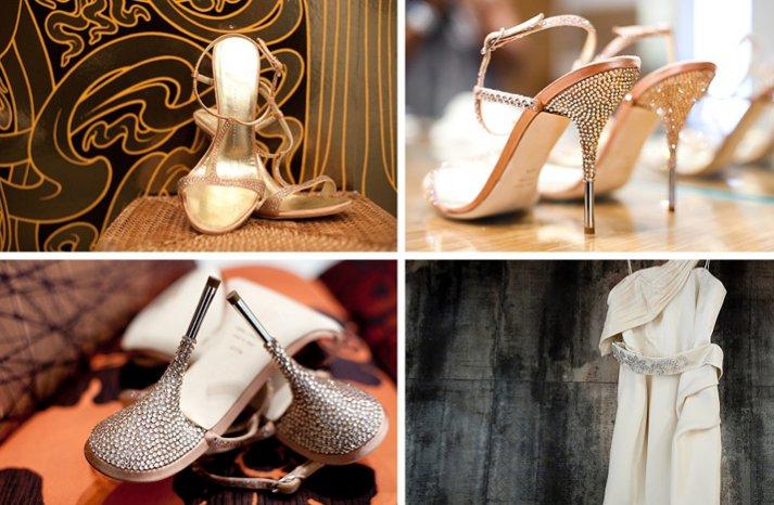 sparkly wedding sandals