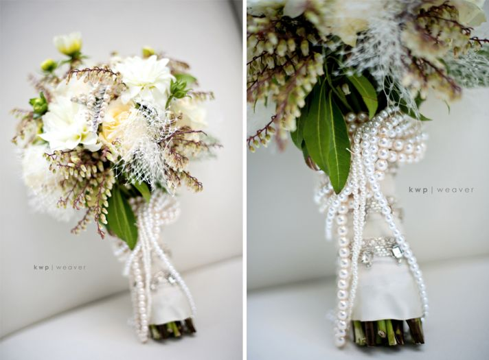 vintage wedding photography orlando photographers bridal bouquet pearls