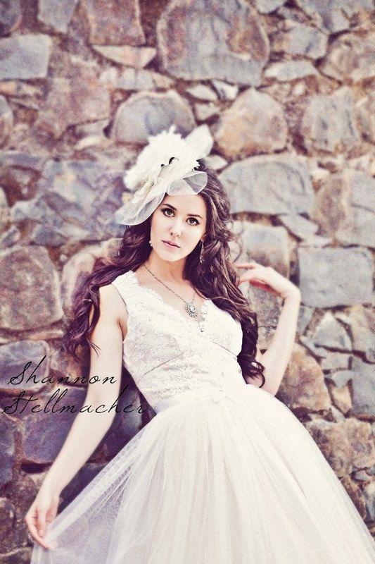 vineyard wedding ideas bridal gown headpiece 5