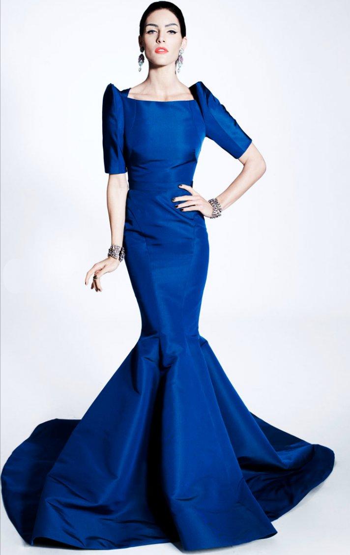 blue wedding dress mermaid