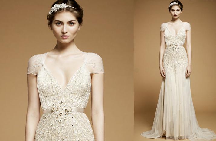 vintage inspired wedding dress 2012 jenny packham cap sleeves