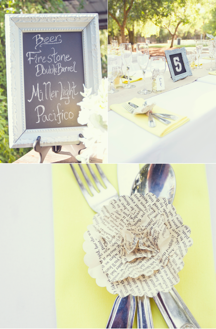 elegant wedding reception decor yellow