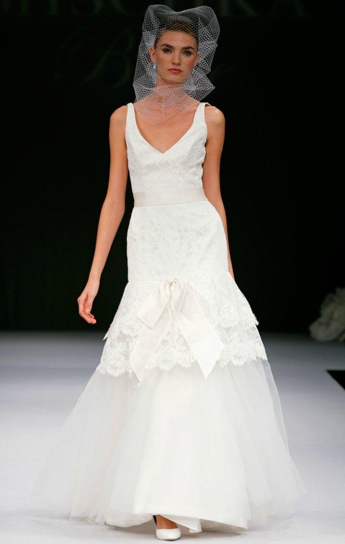 printed wedding dresses 2012 bridal gown trend lace mermaid