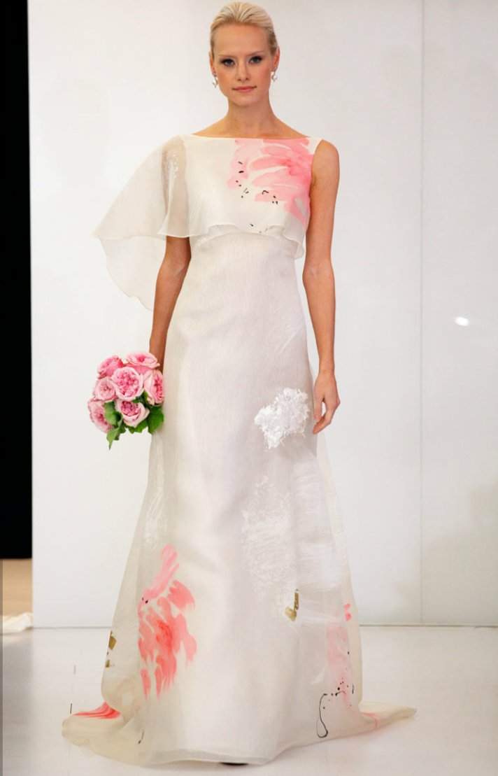 printed wedding dresses 2012 bridal gown trend angel sanchez