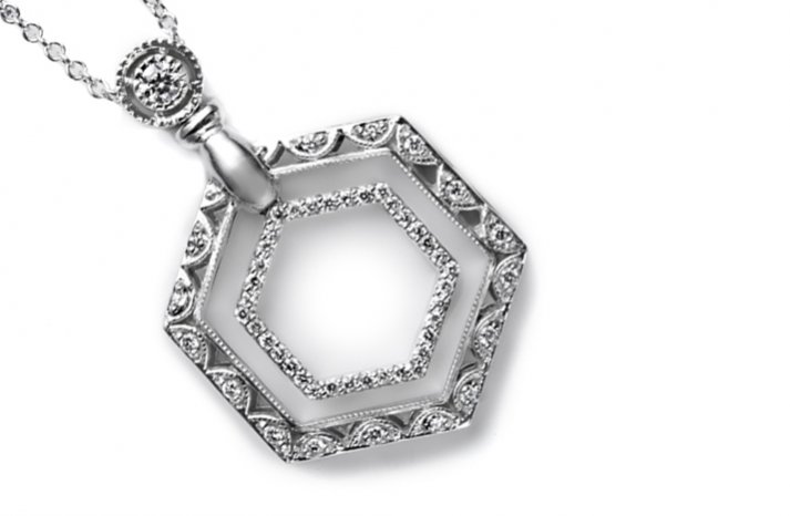 white gold wedding necklace sapphires