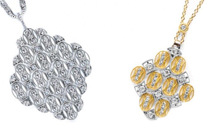 tacori wedding necklaces antique inspired