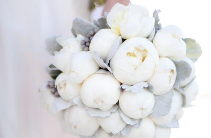 whimsical wedding flowers white peony bridal bouquet